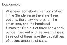 Alex in the slenderverse
