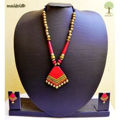 Terracotta Jewelry_Red Gold Combo