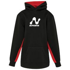 Advertise your brand with this kids' colour block hoodie!