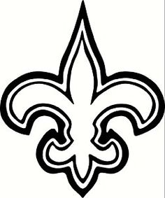 new orleans saints canvas my brother s gf painted it crafty time rh pinterest com new orleans saints fleur de lis clip art new orleans saints symbols free clipart