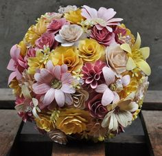 This forever bouquet is made of wooden flowers and corn husk flowers. It will complete any look you desire! Whether you're a bride looking to complete her wedding day look or simply searching for a pe