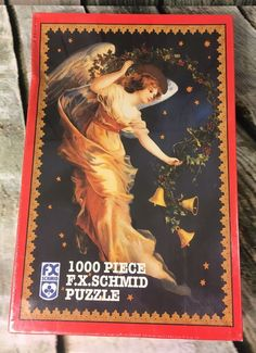 FX Schmid 'Midnight Angel' 1000 Piece Puzzle New/Sealed 20x27 1997 Christmas #FXSchmid
