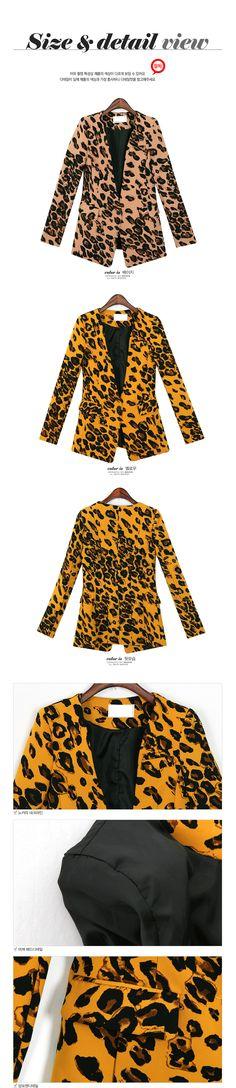 YESSTYLE: REDOPIN- Leopard-Print Blazer (Beige - M) - Free International Shipping on orders over $150