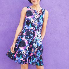 Feeling pretty in prints in this gorgeous floral print dress. (Kam Dress)