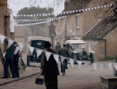 White bunting | At Home in Love :: Downton Abbey
