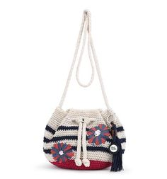 Our newest addition to our crochet collection this season, the Moraga Small Drawstring is right on-trend!