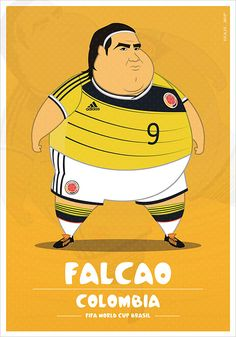 If Football Players Were Sumo Wrestlers | Fat but Flat Designs by Fulvio Obregon