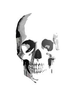 skull watercolor.