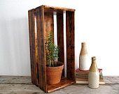 Vintage Wood Crate /  Vintage Wood Box - Industrial Storage - Wooden Box