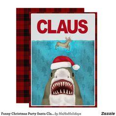 'Funny Christmas Santa Claus Shark Reindeer Humor' T-Shirt by emkayhess