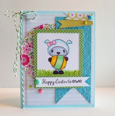 Easter card using #pinkandmain stamps