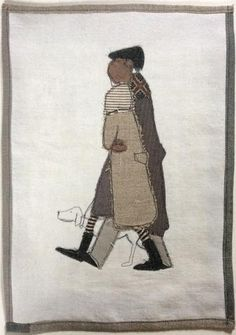 Made By Hand Online - A Walk stitched wallpiece by Janine Pope at madebyhandonline