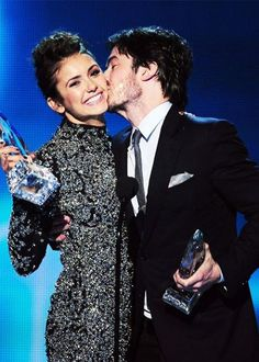 Ian Somerhalder and Nina Dobrev | via Facebook