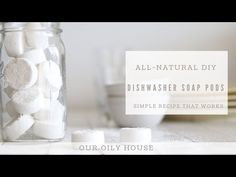 Extremely effective DIY dishwasher soap pods that are simple to make. Made with all-natural ingredients to help keep toxins out of your home. Homemade Dishwasher Soap, Dishwasher Pods, Dishwasher Detergent, Safe Cleaning Products, Cleaning Recipes, Cleaning Hacks, Easy Crafts To Sell, Chemical Free Cleaning, Essential Oils Cleaning