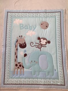 Crib size blanket for your baby boy.