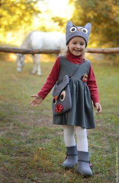 Felted Clothing Set | Комплект валяный Сова – купить в интернет-магазине на Ярмарке Мастеров с доставкой