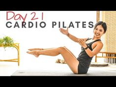 This 20 Minute Cardio Pilates Workout is belong to Day 21 of the 30 Days of Pilates Complete it with me and burn some calories and tone your to. Pilates Workout, 20 Min Workout, Pilates Moves, Pilates Video, Pilates For Beginners, Gym Workout Tips, Workout Days, Workout Videos, At Home Workouts