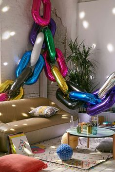 Colorful balloons from Urban Outfitters                                                                                                                                                                                 More