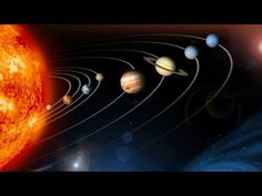 Mercury, Venus, Earth, Mars and the other planets in our solar system are aligned in their orbit around the fiery star we call the Sun in this dramatic wall mural. Solar System Exploration, Solar System Planets, Solar Energy System, Our Solar System, Science Guy, Earth And Space Science, Solar System Wallpaper, Nasa, Planet Video