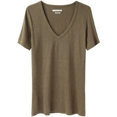 Isabel Marant Étoile Logan V-Neck Tee (140 CAD) found on Polyvore