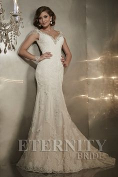 Eternity Bridal, Eternity Bride Style D5289 | Beauitufl #mermaid #wedding dress with lace a beaded detail | Find a stockist near you with Confetti.co.uk