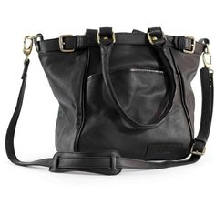 Roque Bags Handbag Ana-Lia Black ($135) ❤ liked on Polyvore featuring bags, handbags, purses, bolsas, bolsos, black bag, black purse and black handbags