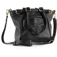 Roque Bags Handbag Ana-Lia Black ($115) ❤ liked on Polyvore featuring bags, handbags, purses, bolsas, bolsos, purse bag, hand bags, handbags purses, man bag and handbags bags