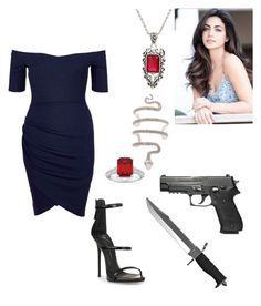 """💋Daniella💋 Hunting Mermaids (Vampire Diaries)"" by rroyalserena ❤ liked on Polyvore featuring Allurez, Hot Topic, River Island, Giuseppe Zanotti, Whetstone Cutlery, DamonSalvatore, vampirediaries and daniellafairwood"