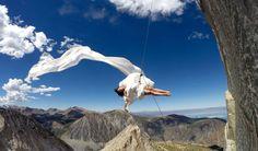 Amelia Rudolph dances where others merely climb. Photo by Thomas Cavanagh at Dana Pillar near Yosemite.
