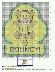 BABY TIGGER BOUNCY by JODY -- WALL HANGING