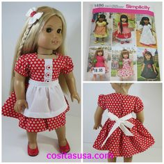 American Girl Doll Dress from Pattern Simplicity 1486