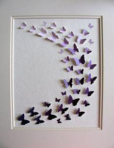 Etsy Purple Paint Chip Art remodelaholic.com #purple #paint