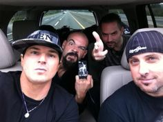 Zak Bagans, Aaron Goodwin, Nick Groff and Billy Tolley