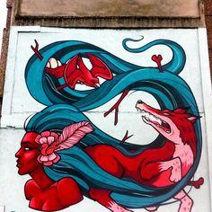 """The Altor // Credit: Danleo and Friz (Ireland) #streetart  #graffiti"""