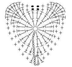 Crochet Heart - Chart ❥ 4U // hf                                                                                                                                                                                 Plus