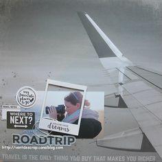 Page roadtrip par CCéline kit d'octobre