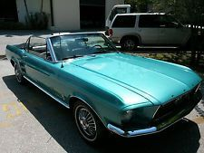 Ford : Mustang Convertible  1967 Ford Mustang Convertible Original 6cyl Automatic Classic Car Hot Rod