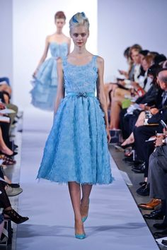 smitten with all the blue  oscar de la renta spring 2013