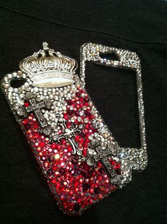 Decoden rhinestone iphone 4 case by bestiesboutiquee on Etsy, $55.00...i little to much for my budget BUT my bday is coming up in 4 months LOL