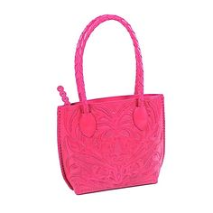 Mexican rose hand-carved leather handbag from Yeo Designs.