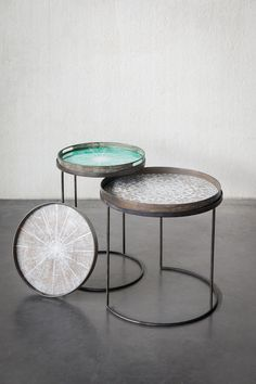 Slice trays and tray tables by Notre Monde www.notremonde.com
