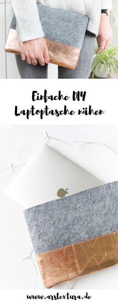 DIY Geschenk | Laptoptasche aus Filz nähen - ein tolles DIY Projekt für Anfänger | DIY Blog