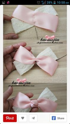 a pair of scissors and three strands of wide Stain Ribbon, you can handle this how to make hair bows plan rapidly.How to make Hair Bows - Free Hair Bow Tutorials Made the elephant for a friend and she loved it!DIY bow with simple instructions. Ribbon Hair Bows, Diy Hair Bows, Diy Ribbon, Ribbon Crafts, Handmade Hair Bows, Cheer Hair Bows, Fabric Hair Bows, Ribbon Flower, Diy Baby Headbands