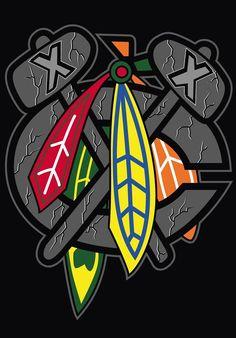 Hockey Page- hoodie with this Blackhawks logo