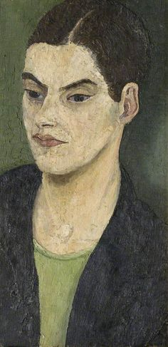 Cedric Lockwood Morris (1889–1982), Nancy Morris, 1929, Oil on canvas, 51x25 cm   Norfolk Museums Service