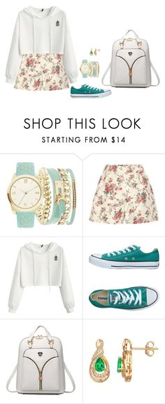 """""""Sem título #2963"""" by mprocedi ❤ liked on Polyvore featuring A.X.N.Y., Miu Miu and Converse"""