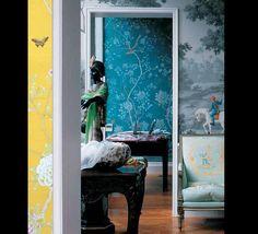 de gournay haindpainted wallpaper