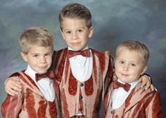 Kids are allowed. But only if they follow the dress code: bacon print tuxedos.
