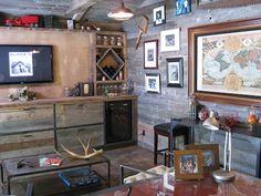 Black's Farmwood Grey Barn Siding:    Bert the Conqueror on DIY's Man Caves - Google Search