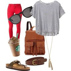 City Break by olive-izzet on Polyvore featuring polyvore, fashion, style, Athleta, Burberry, Birkenstock, GUESS, Blue Nile, FOSSIL, Monki and Aspinal of London